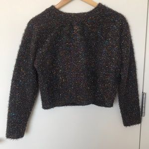 Tinsel cropped sweater